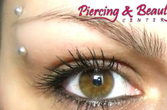 Vertical Eyebrow Piercing -Facial Piercing