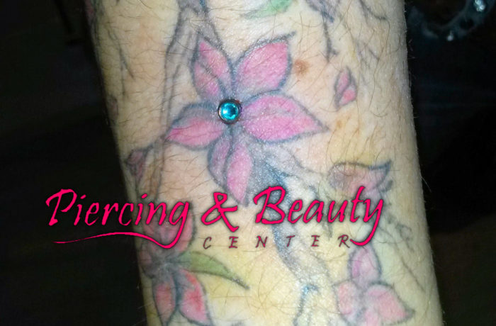 Microdermal Piercing Tattoo